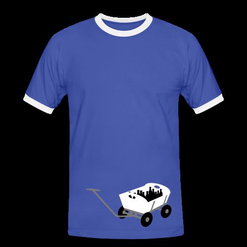 bollerwagen | kontrast t-shirt | für grünkohl, kohlfahrt und junggesellenabschied - Männer Kontrast-T-Shirt