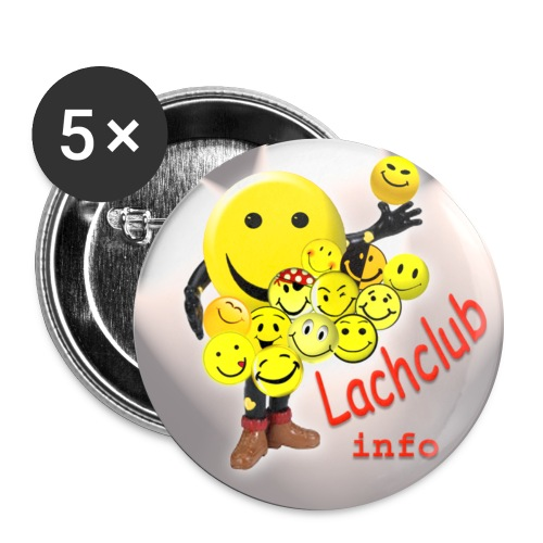 Button Lachclub.info - Buttons groß 56 mm (5er Pack)