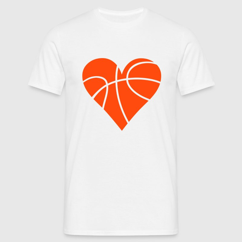 Basketball Heart T-Shirts - Men's T-Shirt