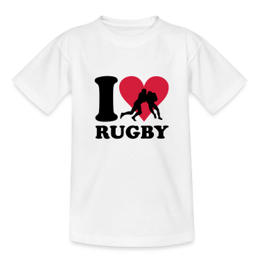 I love Rugby T-shirt bambini