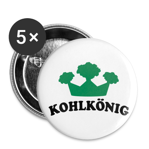 kohlkönig | button (56 mm) | für grünkohl und kohlfahrt - Buttons groß 56 mm