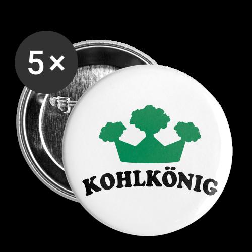kohlkönig | button (56 mm) | für grünkohl und kohlfahrt - Buttons groß 56 mm (5er Pack)