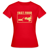 T-shirts ~ Vrouwen T-shirt ~ Fast Food