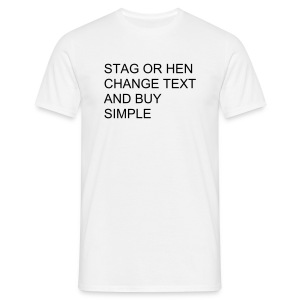 Stag Or Hen - Men's T-Shirt