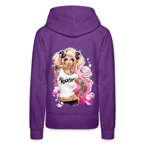 AsuROCKS GIRL Hoodie Purple - Frauen Premium Hoodie