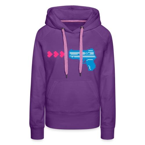 PIXELGUN hoodie purple - Frauen Premium Hoodie