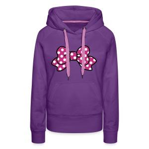 CUTE RIBBON hoodie purple - Frauen Premium Hoodie