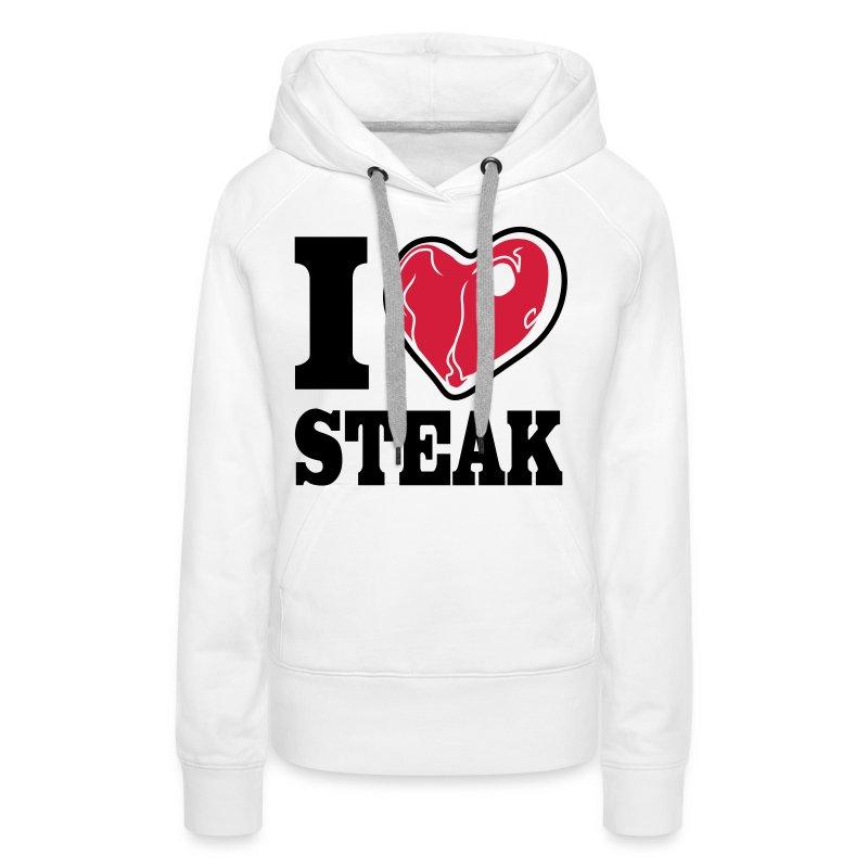 I LOVE STEAK girl hoodie - Frauen Premium Hoodie