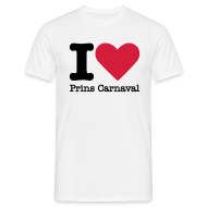 T-shirts ~ Mannen T-shirt ~ I Love Prins Carnaval