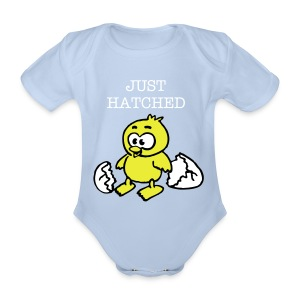 Organic Short-sleeved Baby Bodysuit - Baby,chick,just hatched,newborn