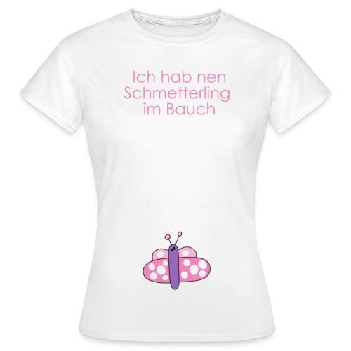 Schmetterling im Bauch - Frauen T-Shirt