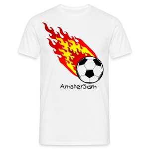 Men's Classic T-shirt 'Fireball' White/Black - Men's T-Shirt