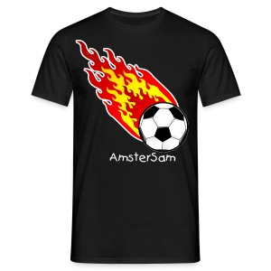 Men's Classic T-shirt 'Fireball' Black/White - Men's T-Shirt