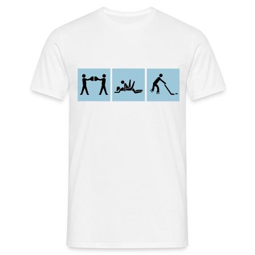 BierSexEISHOCKEY | 2farbig | für IHN - Männer T-Shirt