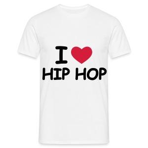 I love Hip Hop - Mannen T-shirt