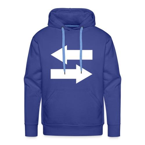 blue sweater man - Mannen Premium hoodie