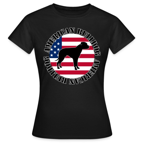 American Bulldog - Stars and Stripes 02 - Frauen T-Shirt