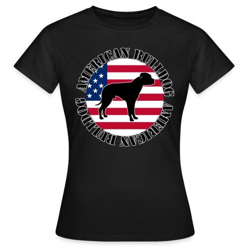 American Bulldog - Stars and Stripes 02 - Frauen T-Shirt