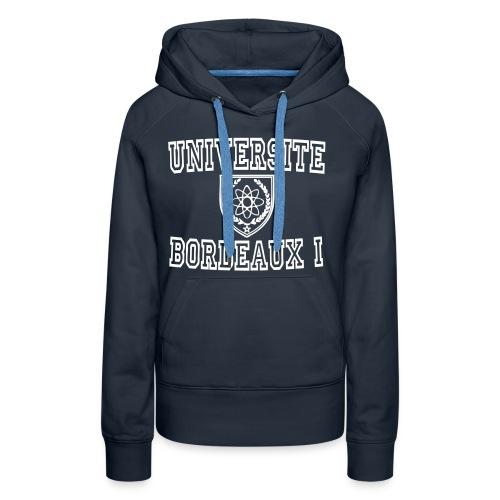 Sweat-shirt à capuche Premium pour femmes - bordeaux 1 apparel,bordeaux apparel,boutique bordeaux segalen,sweatshirt universite bordeaux,sweatshirt universite bordeaux 1,sweatshirt université bordeaux 1,t shirt bordeaux 1,t shirt université bordeaux 1,université bordeaux