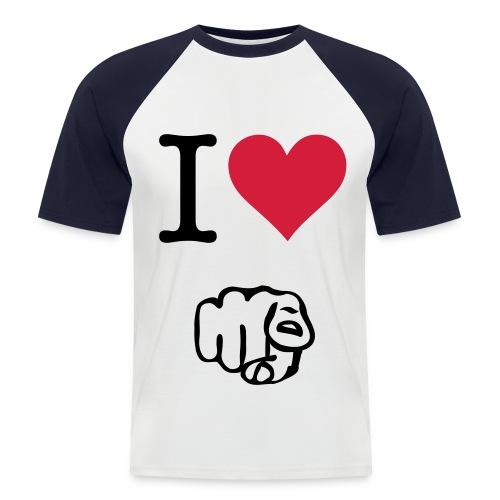 I love you - Mannen baseballshirt korte mouw