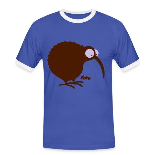 Kiwi - Männer Kontrast-T-Shirt