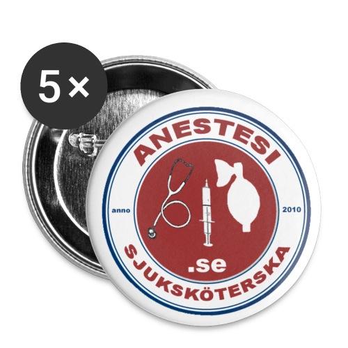 Knappar med logo i 4-färgstryck (5 pack) - Små knappar 25 mm