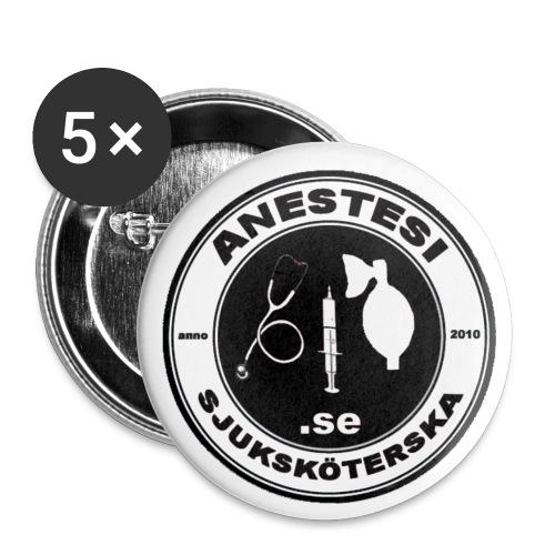Knappar med logo i svart/vitt (5 pack) - Små knappar 25 mm