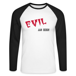 Evil Long Sleeve - Men's Long Sleeve Baseball T-Shirt