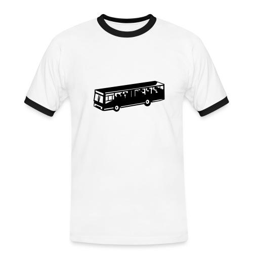 Koszulka z autobusem - Koszulka męska z kontrastowymi wstawkami