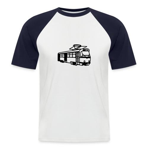 Koszulka z tramwajem - Koszulka bejsbolowa męska