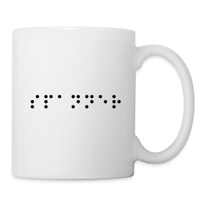 'spanner' - Written in 'Braille' font! - Mug