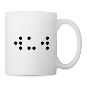 'WUW' (Wots Up Wil initials) written in 'Braille' font! - Mug