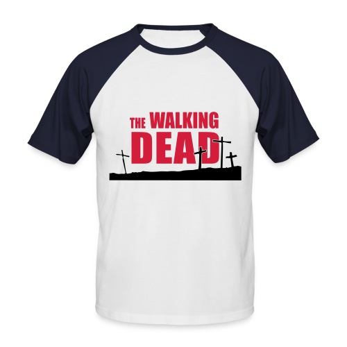 walking dead - cruces - chico dos colores manga corta - Camiseta béisbol manga corta hombre