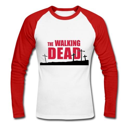 walking dead - cruces - chico dos colores manga larga - Raglán manga larga hombre