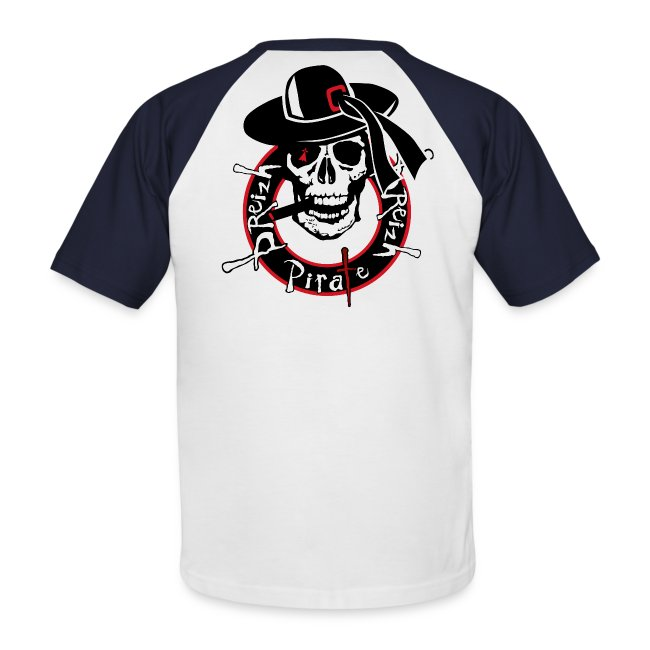 13ee643d126ba T-shirt baseball manches courtes Homme. (112). colonel annibal breizh pirate