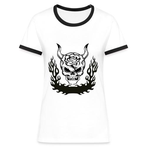 Tribal Skull - T-shirt contrasté Femme