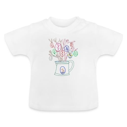 T-SHIRT BLANC BEBE L'ARROSOIR AUX OEUFS DE PAQUES  - T-shirt Bébé