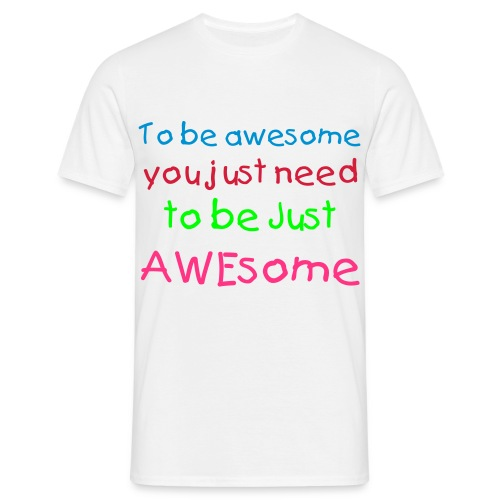Just AWEsome - T-shirt herr