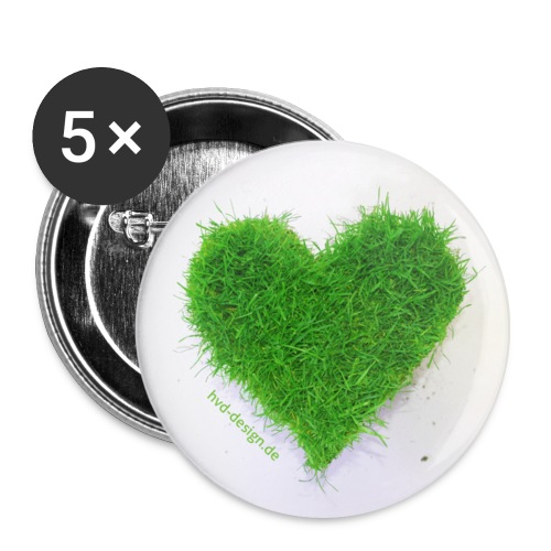 Herzrasen Button - Buttons mittel 32 mm