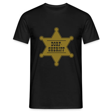 Dorf-Sheriff-Stern, T-Shirt