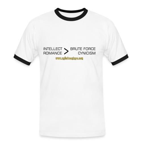 Intellect & Romance (Ringer T-Shirt) - Men's Ringer Shirt