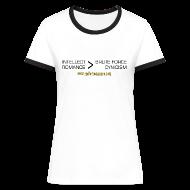 T-Shirts ~ Women's Ringer T-Shirt ~ Intellect & Romance (Ringer T-Shirt)