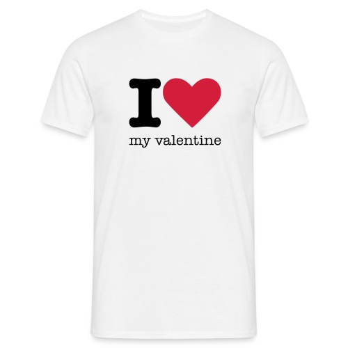 I Love my valentine shirt - Mannen T-shirt