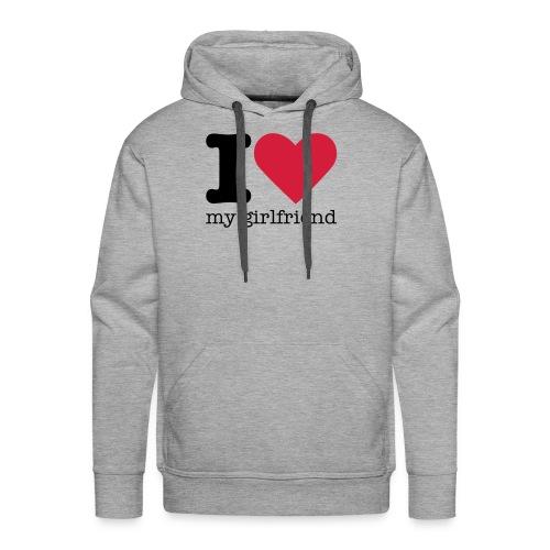 I Love my girlfriend sweater - Mannen Premium hoodie