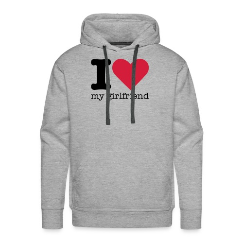 I Love my girlfriend sweater - Mannen Premium hoodie