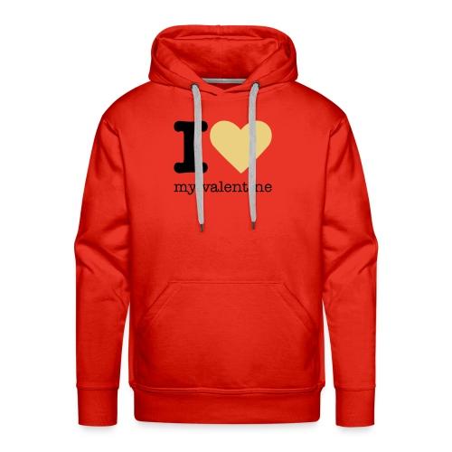 I Love my valentine sweater - Mannen Premium hoodie