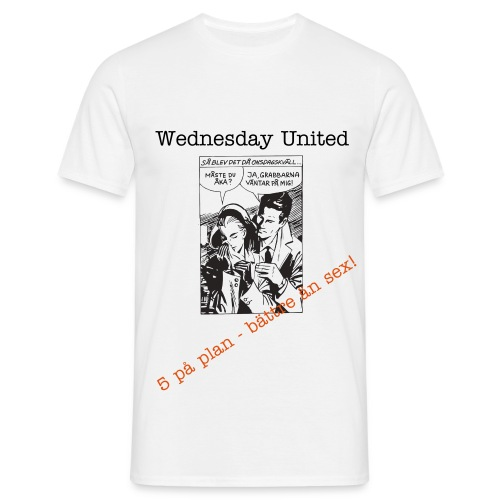 Wednesday United - Vita Laget - Men's T-Shirt