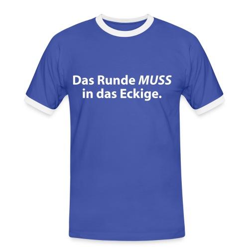 Schpruchshirt - Männer Kontrast-T-Shirt
