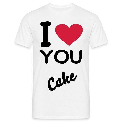 I Love Cake - Herre-T-shirt