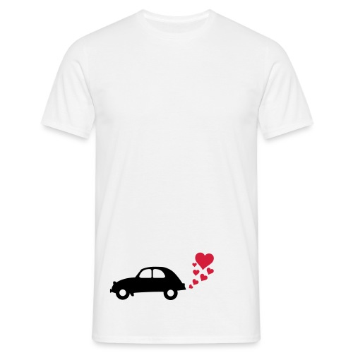 2cv_heart_smoke - Men's T-Shirt